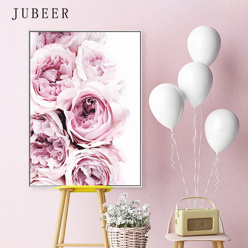 HTB1rZwtRXzqK1RjSZFoq6zfcXXa2 Nordic Style Posters and Prints Flowers Wall Pictures for Living Room Feather Decorative Picture Canvas Prints Home Decor
