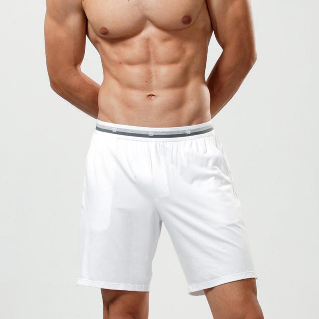 Boxeadores de los hombres modal + algodón + spandex, cena cómodo, pantalones de pijama, calidad de hight, envío Gratis