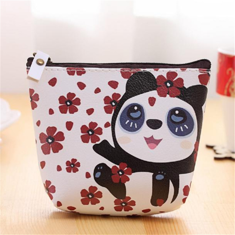 New Fashion Women Coin Purse Bag Wallet Cute Cartoon Flower Design Money Handbag Zipper PU Leather Coin bags Card Holders #55 2017 new fashion design women cute pu leather change purse wallet bag girls coin card money pouch portable purse small bag jan12