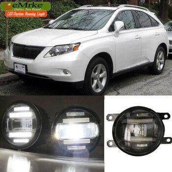 EeMrke para Lexus RX350 RX450h AL10 2008-2015 xenón blanco alta potencia 2 en 1 LED DRL proyector niebla lámpara con lente