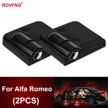 ROVFNG 2 Pcs Car Door Led Welcome Light Projector Logo For Alfa Romeo 159 Giulietta 147 156 GT Mito 146 166 Giulia 145 Spider
