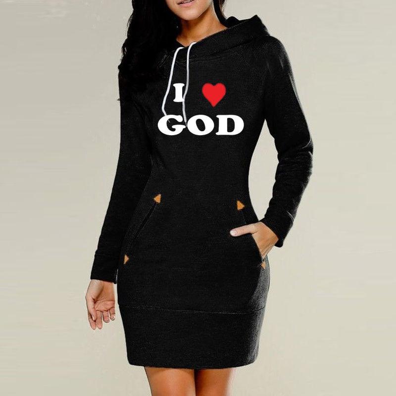 Gresanhevic 20I7 LOVE GOD Women Fleece Thin section Hoodies Sweatshirts Zipper Design Casual Long Sleeve Hooded Outerwear