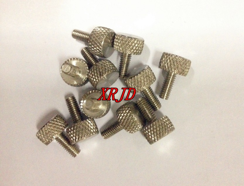 200pcs/Lot 304 Stainless Steel M4x10 Knurled Head Thumb Screws Brand New