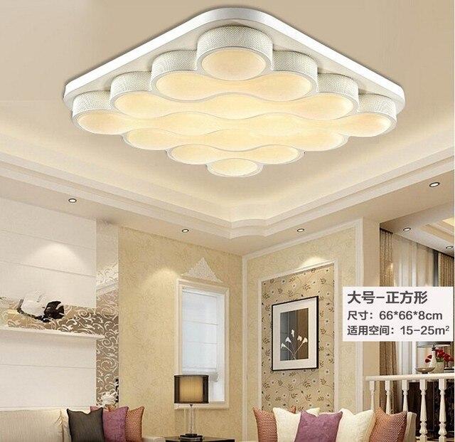 Modernen quadratischen led lampen dimmen decke wohnzimmer ...