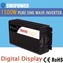 1500 W saf sinüs güneş power inverter DC 12 V AC 110 V için 24 V 48 V 220 V