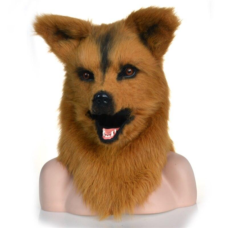 Masque de bouche mobile de loup avec la bouche de déménageur