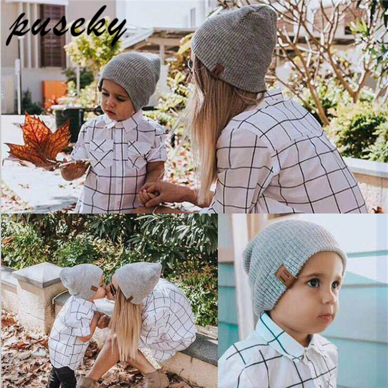 04959040867 Detail Feedback Questions about Puseky 2 Piece Set Winter Hats For Matching  Family Dad Baby Boys Knitted Hat Beanies Cap Wool Warm Skullies Solid  Beanie on ...