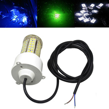 цены 12W LED Underwater Fishing Light Marine Boat Lights IP68 Waterproof 360 Degree Lure Lights For Fishing DC 12V