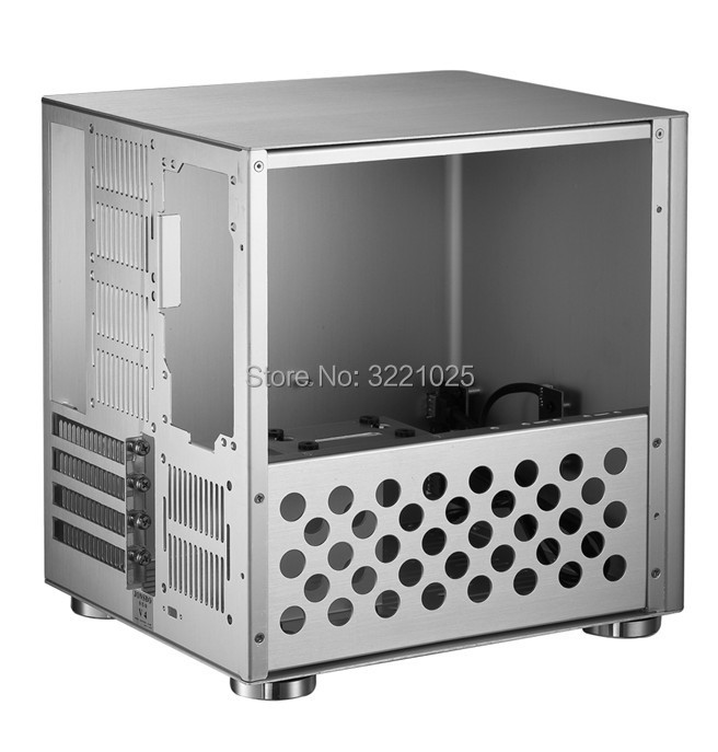 Image 5 - Jonsbo V4 Silver Aluminum Mini ITX MATX computer Case USB3.0  game small chassis  V4B Black HTPC ITX  support 3.5 HDD-in Computer Cases & Towers from Computer & Office