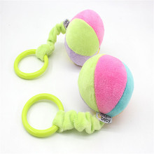 Baby hand ball ball trumpet Six colors bell ball Newborn lathe hanging bell toy Baby Rattle Cute Rabbit Stroller Wind Chimes