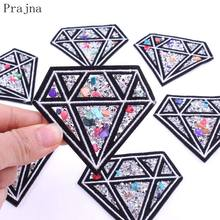 Patch diamant Prajna sur Patch brillant pour vêtements autocollants en tissu coudre sur patchs Badges Parches strass à la main Applique(China)