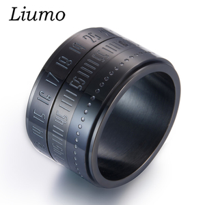 Liumo Fashion Black Gold Silve