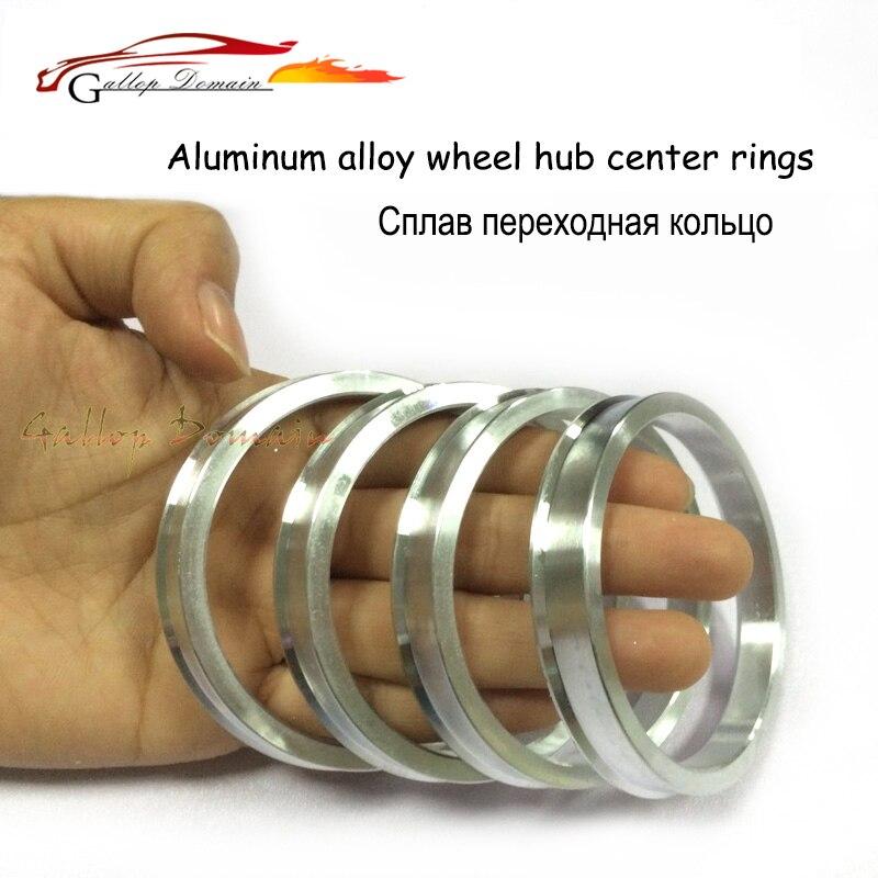 4 pièces/lots 74.1-72.6 Hub Centric Anneaux OD = 74.1mm ID = 72.6mm moyeu de Roue En Aluminium anneaux livraison Gratuite Voiture de Coiffure