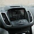 Новый ABS Chrome Передний Ряд Навигации Розетки Украшения Наклейки 2 шт./компл. Для Ford Kuga 2013-2016 все аксессуары
