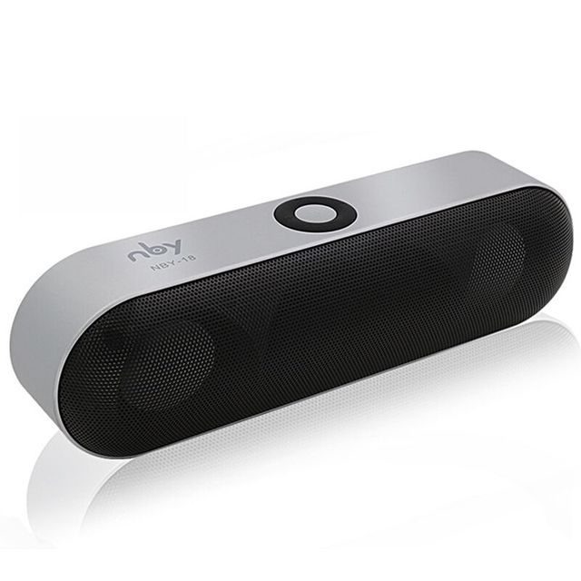 New NBY-18 Mini Bluetooth Speaker Portable Wireless Speaker Sound System 3D Stereo Music Surround Support Bluetooth,TF AUX USB