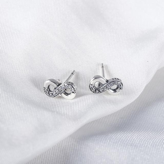 Bow Shape Earrings Sterling PSER0062-B