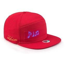 Novità animata Bluetooth Cappello Led Display Bordo hip hop street dance party sfilata protezione solare escursioni di notte da corsa berretto di pesca
