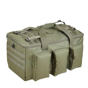 Image 4 - 야외 하이킹 배낭 55L 군사 팬 가방 캠핑 다목적 배낭 낚시 전술 휴대용 어깨 대용량
