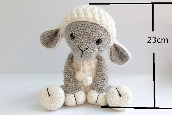 Haak schapen baby douche kamer versieren rammelaar speelgoed en pop 5