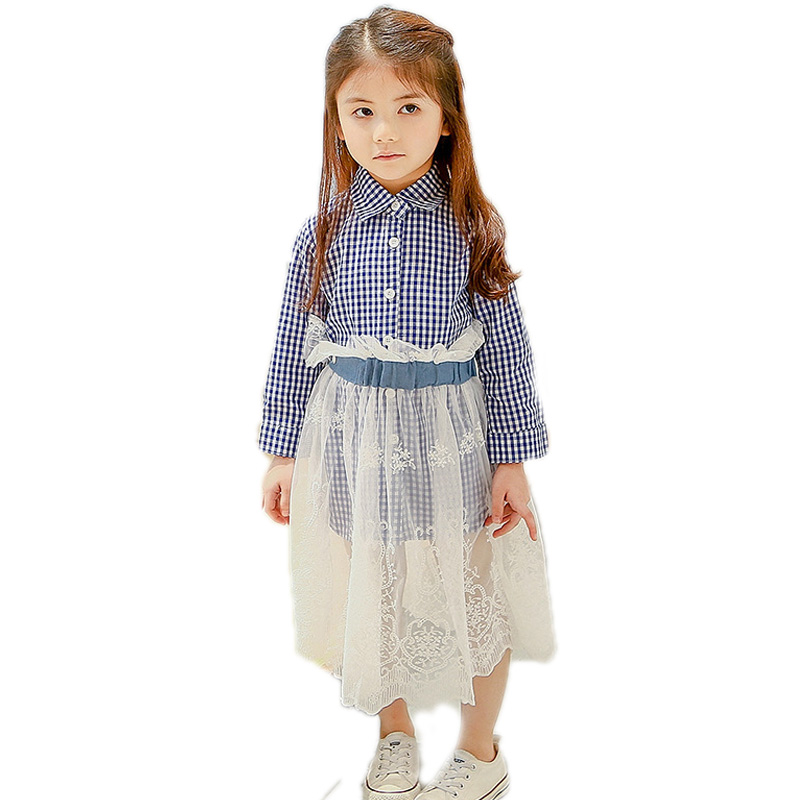 children clothing 2018 new spring girls clothes sets top long sleeve blue plaid blouse shirt+white mesh skirt 2 pcs girls sets nautica new blue long sleeve v neck pajama top m $32 dbfl