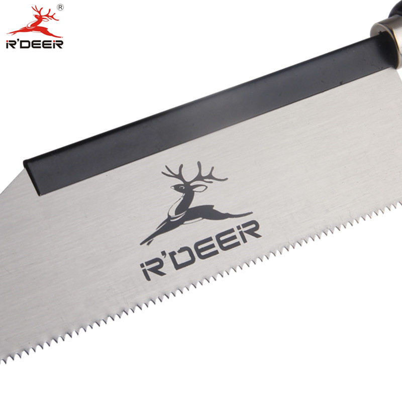RDEER 8 ''/200mm Runde Holz Griff Sah 65 # Mangan Stahl Rebschnitt Gartenarbeit Jig Sägen Holz Hand werkzeuge