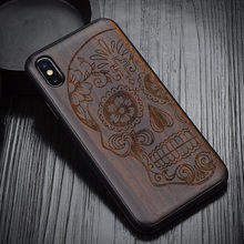 2020 New For iPhone XS Max Case Black Ebony Wood Cover For iPhone XS X Carved TPU Bumper Wooden Case For iPhone XR