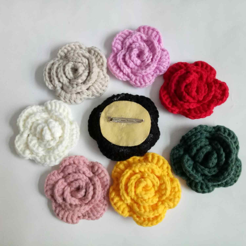 ec6cd0c40 Detalle Comentarios Preguntas sobre 2 piezas broches Crochet lana ...