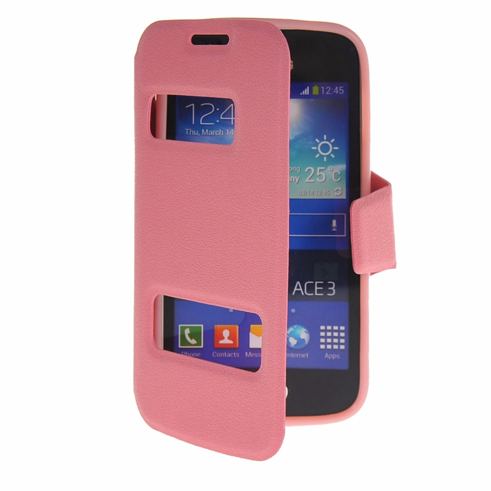 Pu Leather 4.0For Samsung Galaxy Ace 3 Case For Samsung Galaxy Ace 3 III S7270 S7272 S7275 Cell
