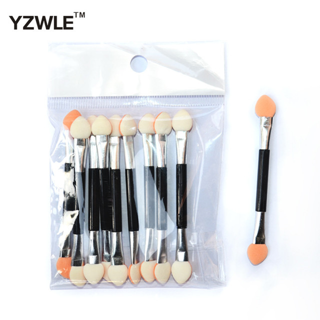 10PC Eyeshadow Applicator Pro Sponge Double Ended Make Up Supplies Portable Eye Shadow Brushes Nail Mirror Powder Brush 1