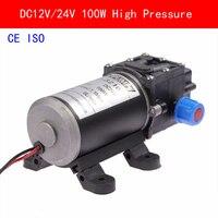 CE ISO DC12V 24 V 100 Wát Áp Lực Cao Micro Màng Bơm Nước Tự Động Chuyển Đổi 8L/min Heavy Duty Xe nhà Vườn Thủy Lợi