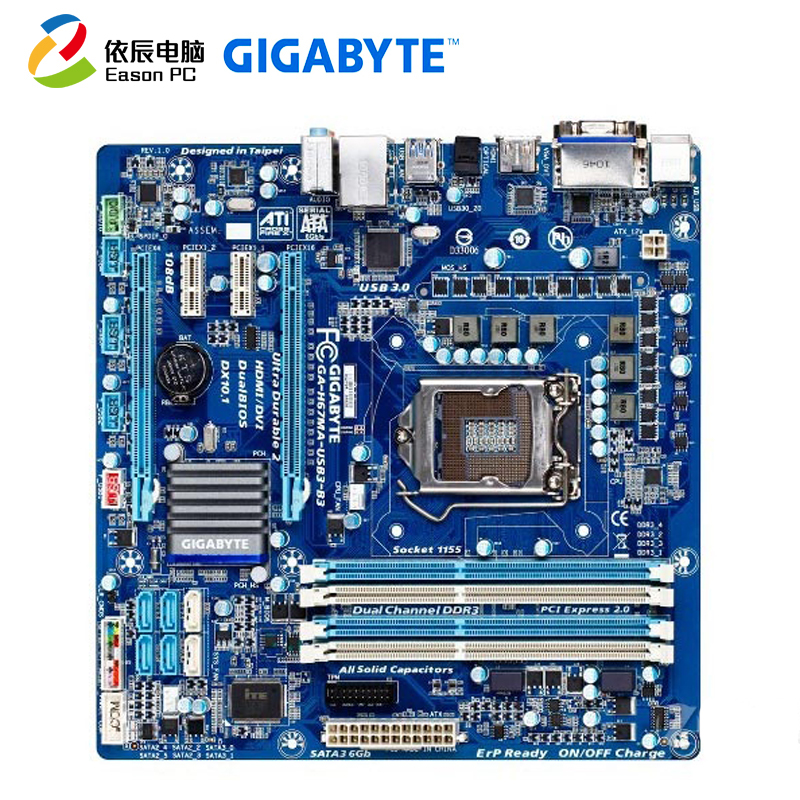 GIGABYTE GA H67MA USB3 B3 Desktop computer motherboard LGA1155 DDR3 i5 i7 Micro ATX