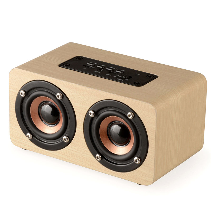 DOITOP Long Play time 3D Stereo Dual Loudspeakers Wooden Bluetooth HIFI Wireless Subwoofer font b Speaker