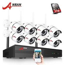 ANRAN видеонаблюдения P2P HD 8CH WI-FI NVR День Ночь Видео Открытый Водонепроницаемый ИК-36 1080 P Беспроводной IP Камера безопасности Системы