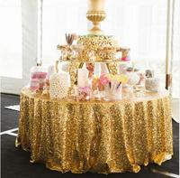 New Arrival 120inch Gold/Silver Sequin Tablecloth Round Table Cloth For Wedding/Party/Banquet Wedding Decoration Table