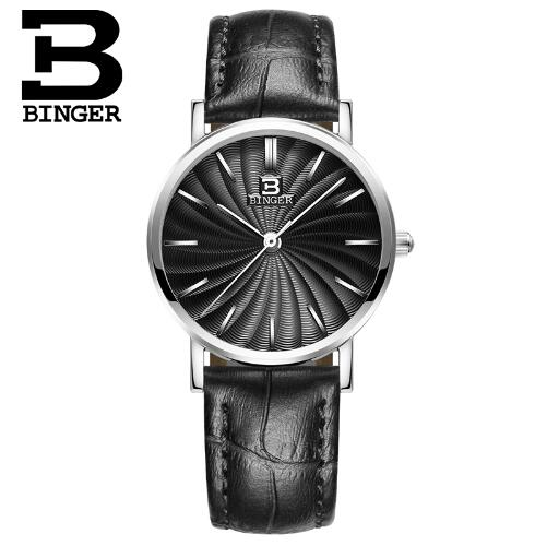 Switzerland Binger 2017 Ladies Wrist Watch Women Brand Famous Female Clock Quartz Watches Montre Femme Relogio Feminino sanda gold diamond quartz watch women ladies famous brand luxury golden wrist watch female clock montre femme relogio feminino
