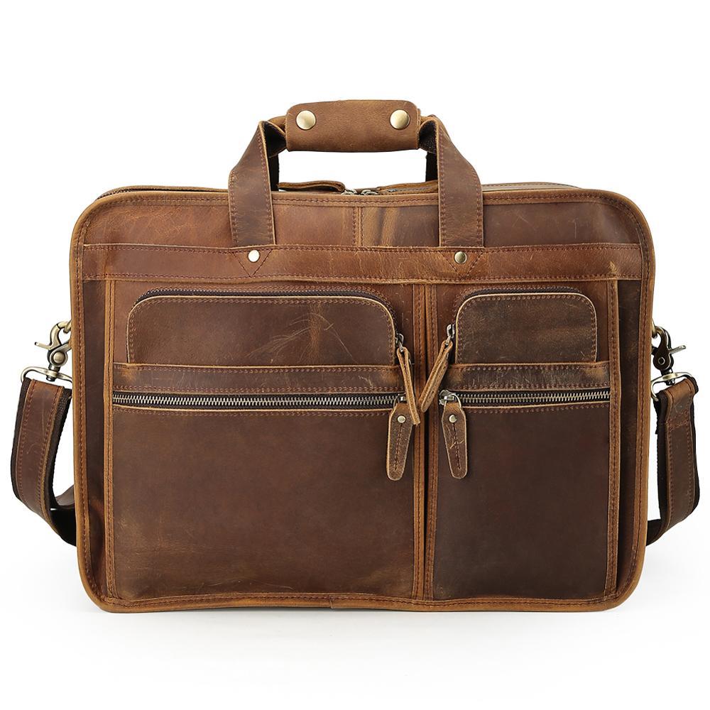 Tiding Business-Briefcase Laptop Handbag Messenger-Bag Shoulder Travel Men's Luxury