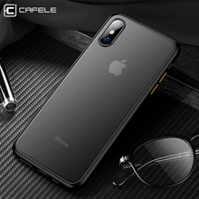CAFELE 2019 newest color clashing case for iphone 7 8 plus X Xr Xs Max silicon+PC translucent
