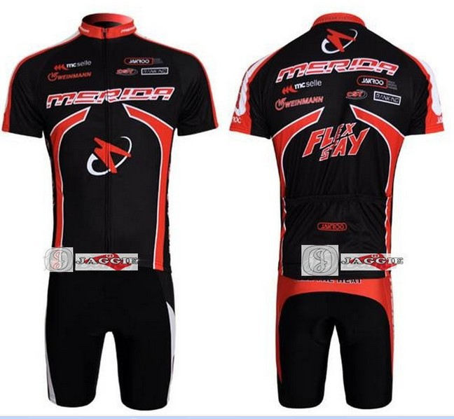 Free shipping! 2011 red black MERIDA team cycling jersey and shot / short sleeve jerseys+Z123 bike bicycle wear set COOL MAX