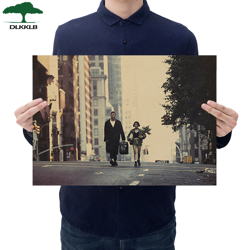 Dlkklb Leon Classic Movie Kraft Paper Poster Bar Dorm Cafe Decorative Furnishing Painting Wall Stickers 36 X 51.5cm