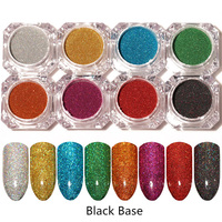 8 Boxes Nail Art Holographic Laser Powder Nail Glitter Manicure Chrome Pigments 8 Colors 8333689