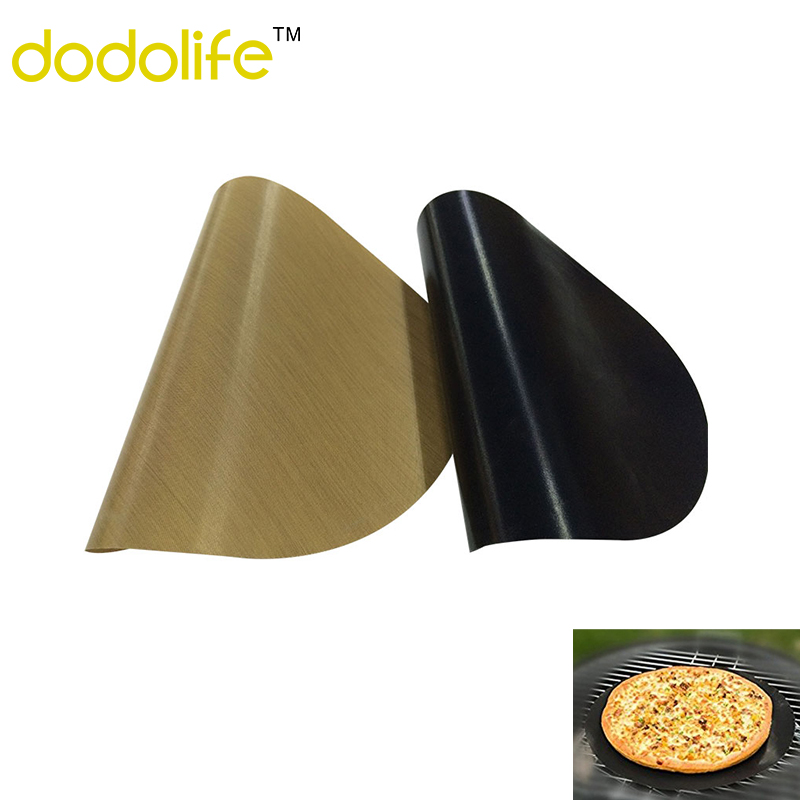 Dodolife Round Non-stick Pan Met Wok Fry Liner Baking Tray Met Sheet Cooking Pad Pastry Tools Roasting&Fried Liner 2pcs/pack Гриль