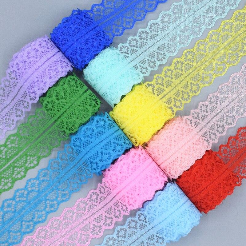 Тканевая швейная вышивка, 5-10 ярдов, белая вязаная тесьма с боковой отделкой, аксессуары для рукоделия, 25 цветов, 2019