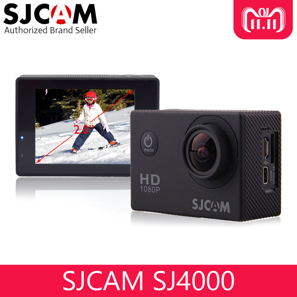 Original SJCAM SJ4000 Action Video Camera Waterproof 30m Diving SJ CAM 4000 Basic Sport DV 1080P Full HD Mini Helmet Camcorder цена
