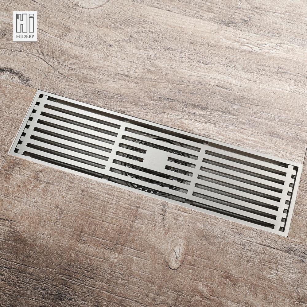 HIDEEP Brass Anti-odor Floor Drain Kitchen Sink Strainer Classic Drains Shower For Family Bathroom Floor Drains Shower