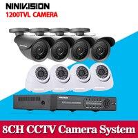 Security Camera System CCTV 8CH 960H Network DVR Kit 1200TVL CCTV Outdoor SONY CCD Sesnor Bullet