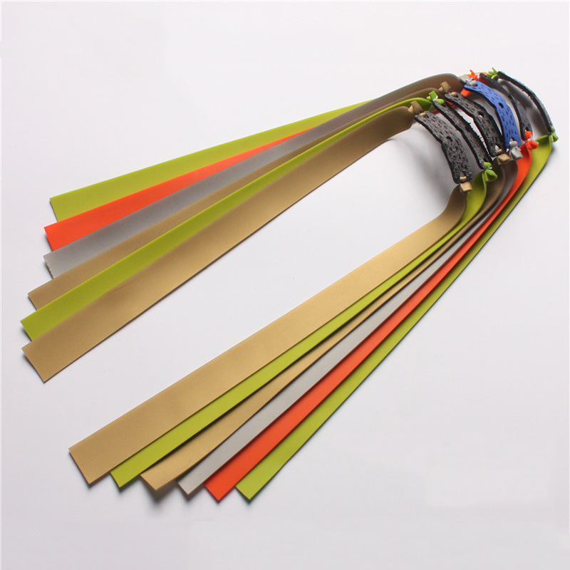 6pcs Slingshot Hunting Powerful Flat Rubber Band 0.7-1 Mm High Elasticity Outdoor Catapult Shooting Accessories