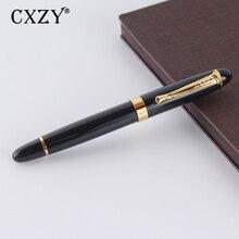 CXZY M 0.7mm metal Fountain pen Classic Iraurita nib calligraphy ink Gold Clip luxury black vintage Caneta Office school 1G801