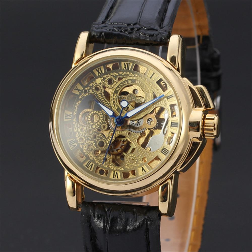 WINNER Female font b Women b font Wrist Watch Ladies Casual Clock Automatic font b Mechanical