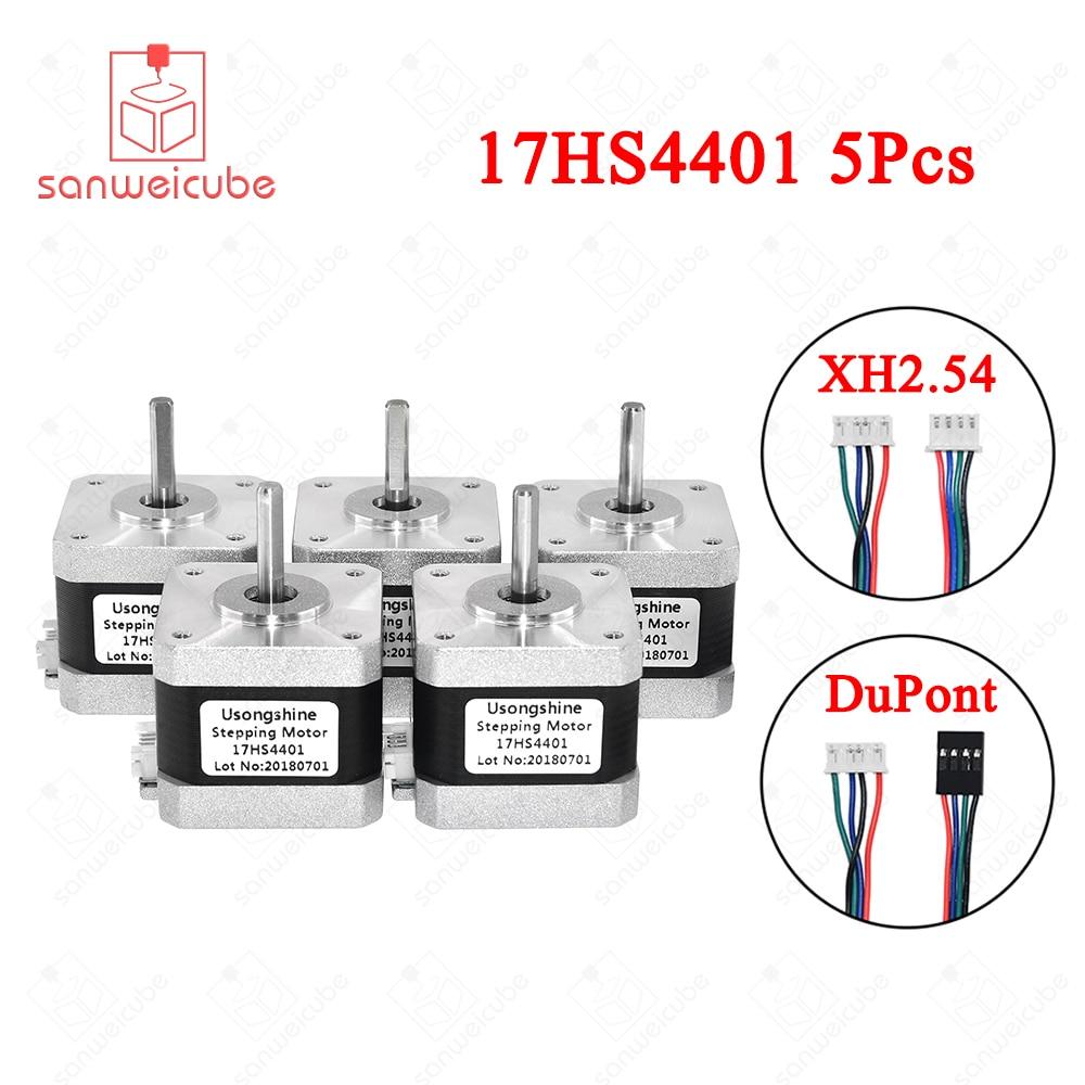5 unids/lote 17HS4401 4 lead Nema17 Motor paso a paso 42 motor Nema 17 42 BYGH 1.5A (17HS4401) motor para CNC XYZ 3d impresora