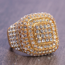 Luxury Women's Gold Statement Rings Crystal AAA Zircon Ring Wedding Jewelry for Women sz 6 7 8 9 10 Y-30 luxury fashion aaa zircon ms men s ring valentine s day gift wedding ring for men s jewelry sz 6 7 8 9 10 11 12 13 y 40
